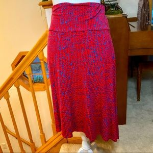 LuLaRoe Azure A-Line Skirt, Size Medium